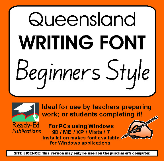 Queensland beginners writing font download ready ed