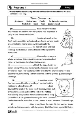 English Free Activity Sheets Teaching Resources | Ready-Ed ...