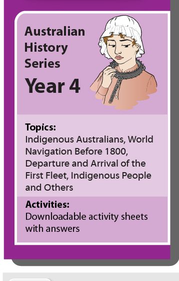 Online Classroom: Australian History Series Year 4