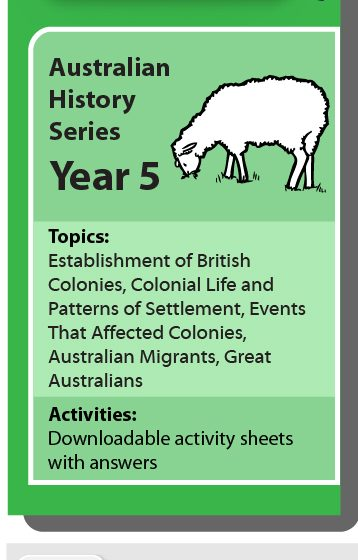 Online Classroom: Australian History Series Year 5