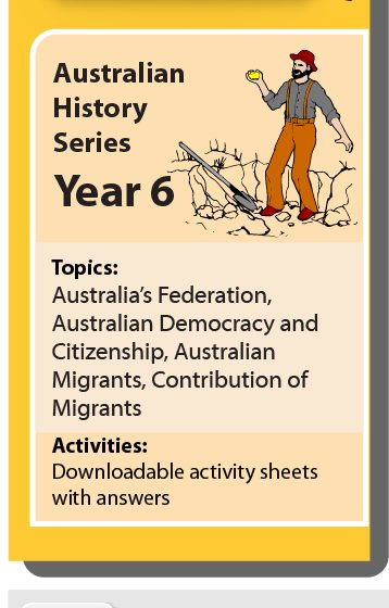 Online Classroom: Australian History Series Year 6