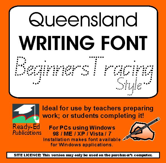 queensland beginners tracing font download ready ed publications. Black Bedroom Furniture Sets. Home Design Ideas