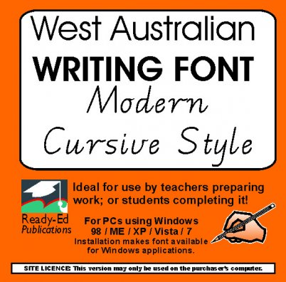 Writing Fonts Primary Teaching Resources | Ready-Ed Publications