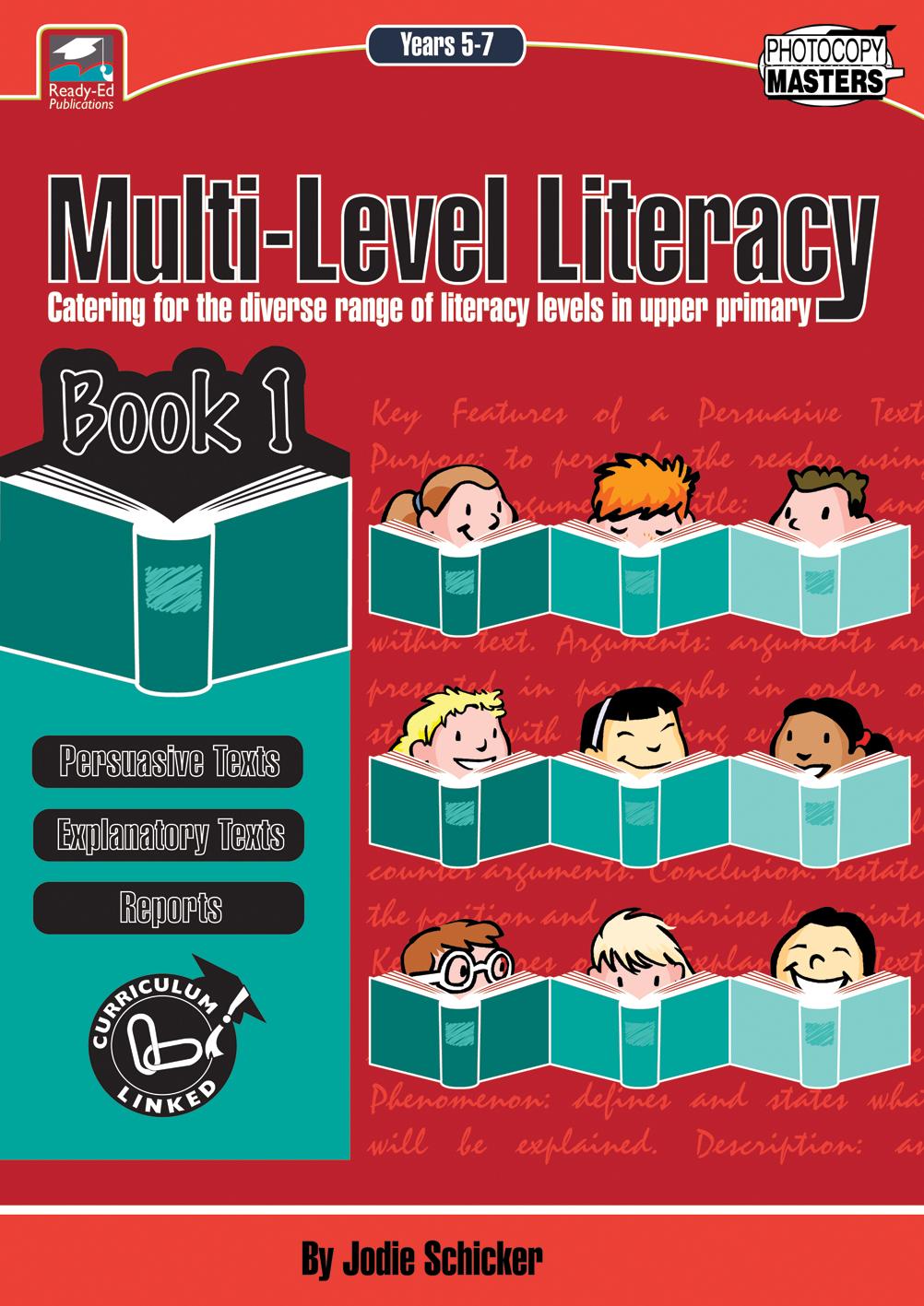 Multi-Level Literacy Book 1