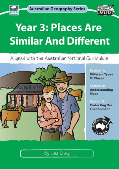 Australian Geography Series Year 3 Places are Similar and Different Cover