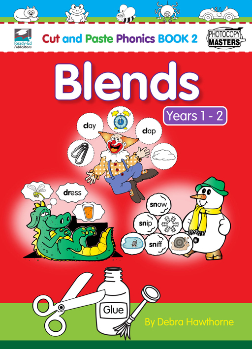 Cut and Paste Phonics Book 2: Blends Years 1 - 2