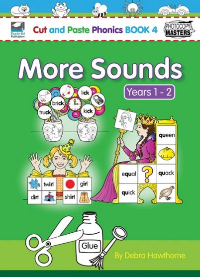 Cut and Paste Phonics Book 3: More Sounds Years 1-2