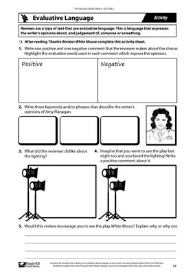The English Series: Year 6 - White Mouse Activity Sheet