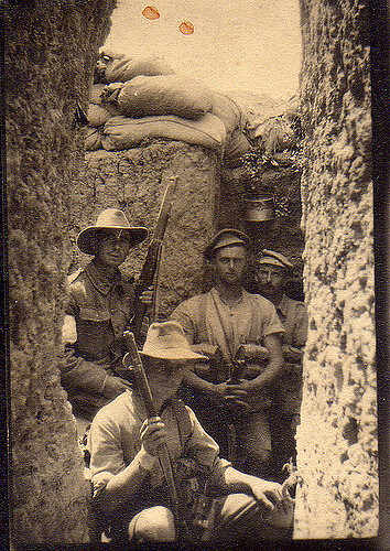 Anzacs in the trench